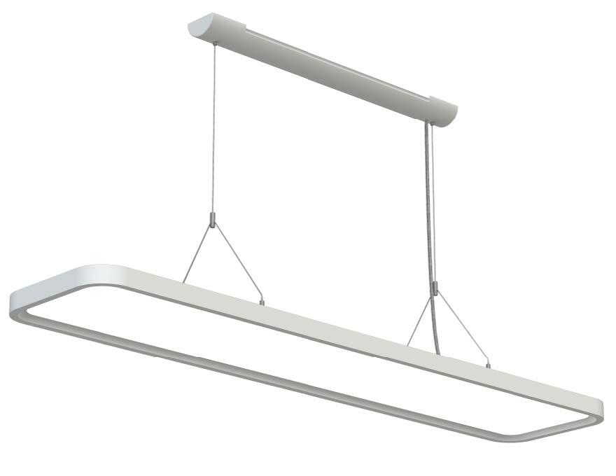 LEDAXO LED-Pendelleuchte PL-03 abgerundete Ecken