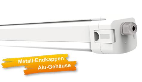 LED-Feuchtraumleuchte FL-11 mit Alu-Gehäuse und Metall-Endkappen