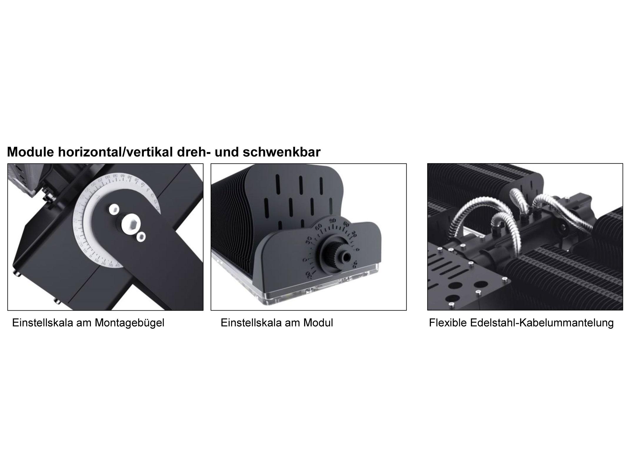 LEDAXO LED-Universallstrahler HRS-08 Detailansichten