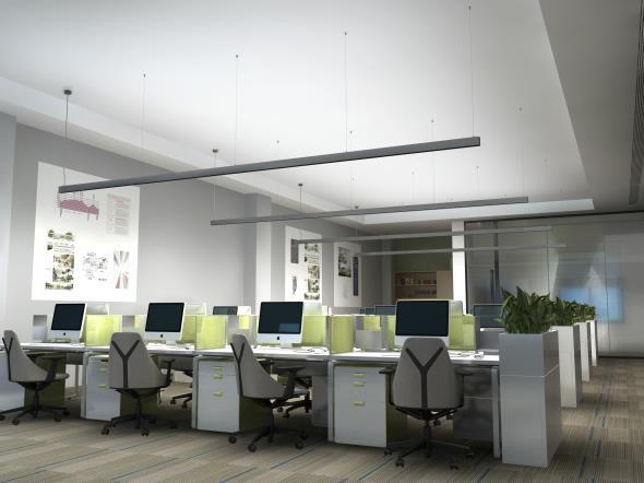 LEDAXO LED-Pendelleuchte PL-08 Anwendungsbeispiel Lichtband