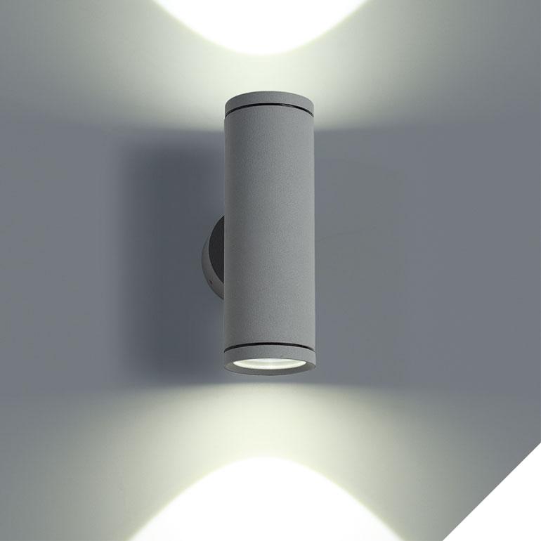 LEDAXO LED-Wandleuchte außen WLA-01-2x3