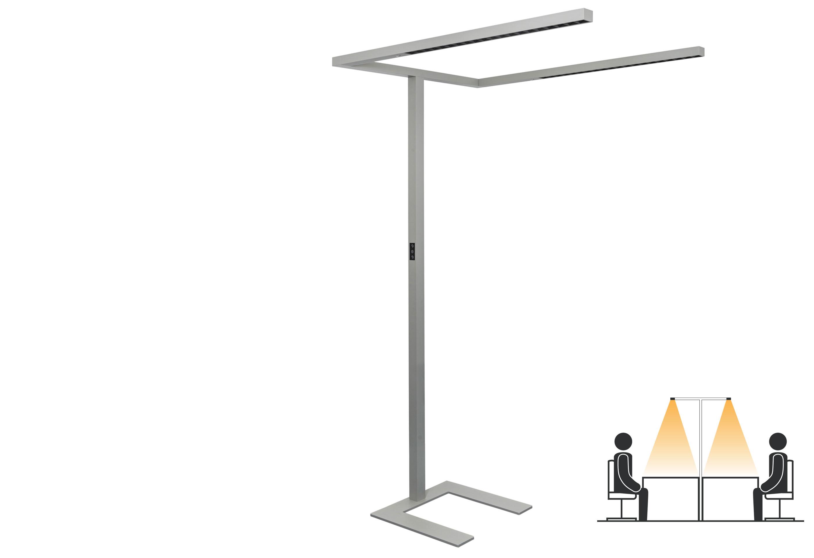 LEDAXO LED-Stehleuchte SL-08-160-TWIN für Doppelarbeitsplätze