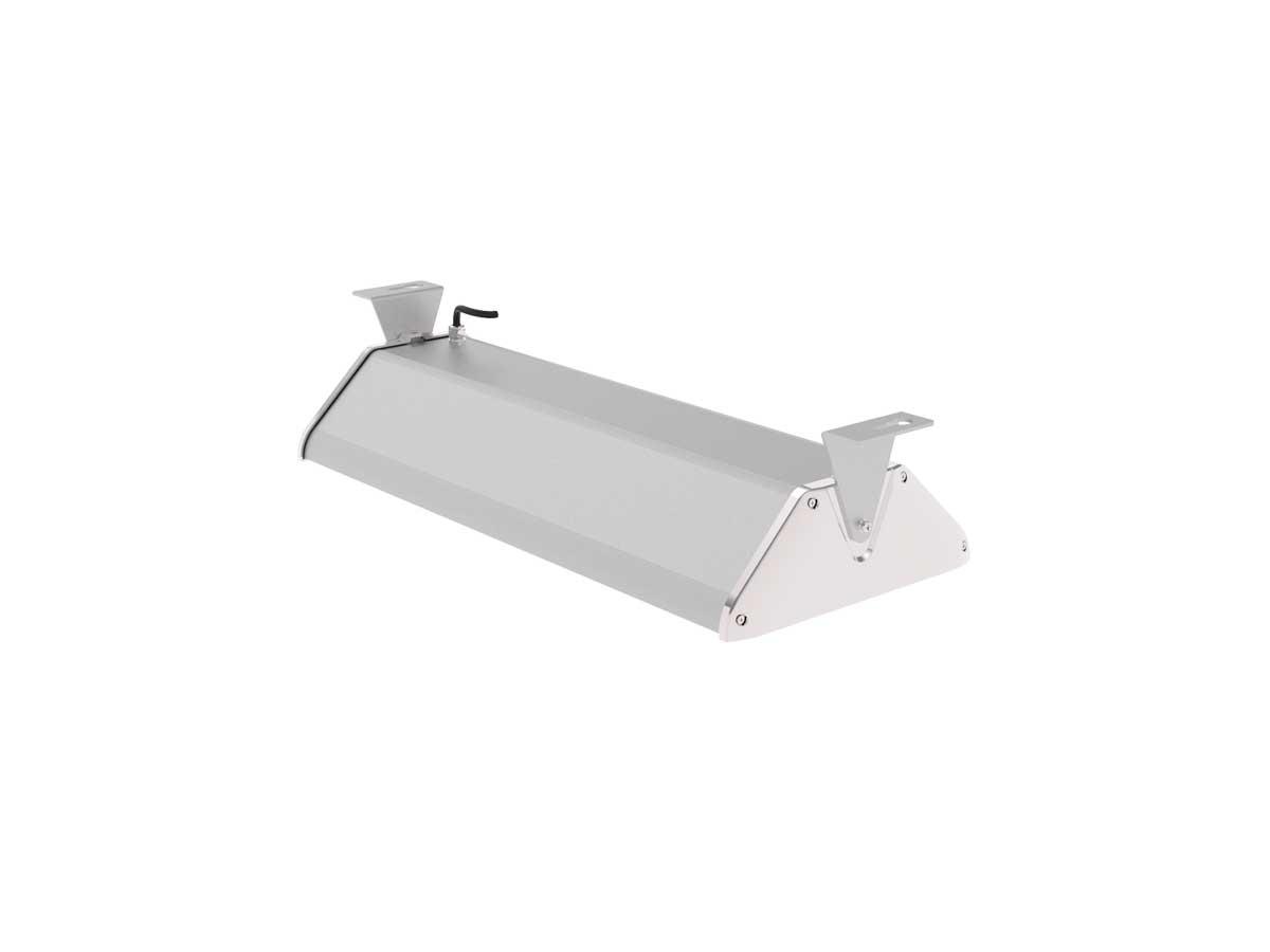 Draufsicht LEDAXO LED-Hallenleuchte HL-06-100 mit Montagebügel