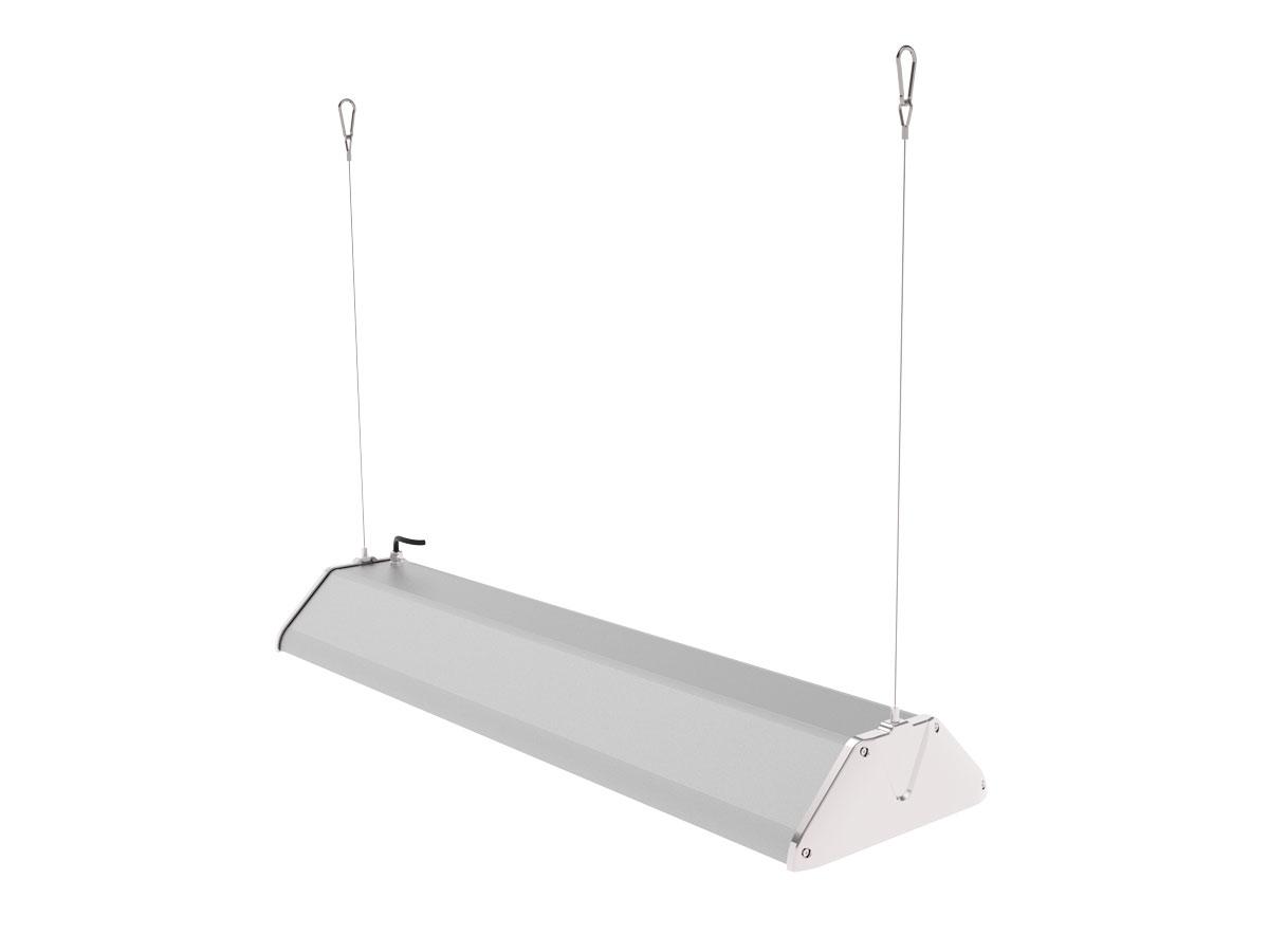 Draufsicht LEDAXO LED-Hallenleuchte HL-06-200 Pendelmontage