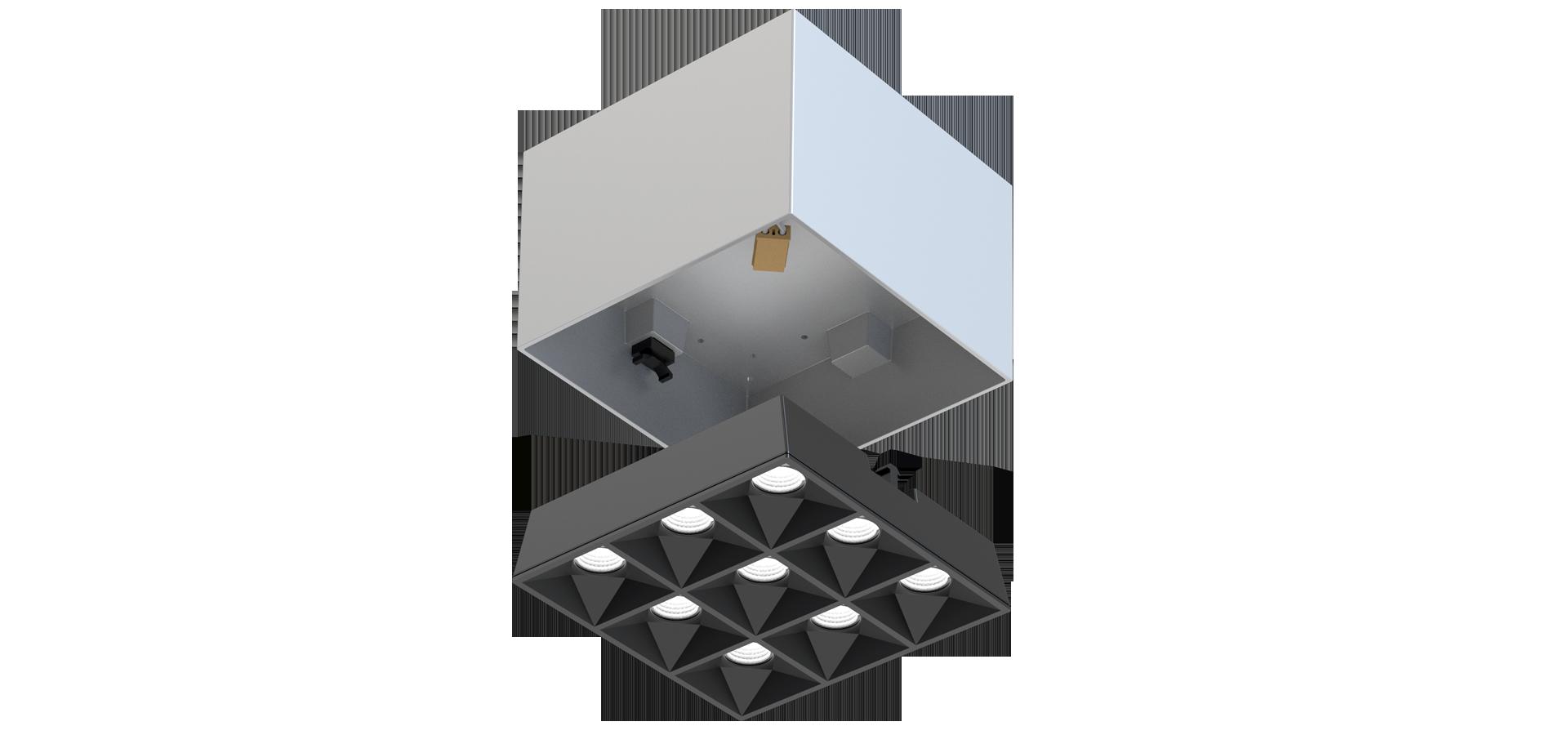 LEDAXO LED-Aufbau-Downlight ADL-16 Detailansicht