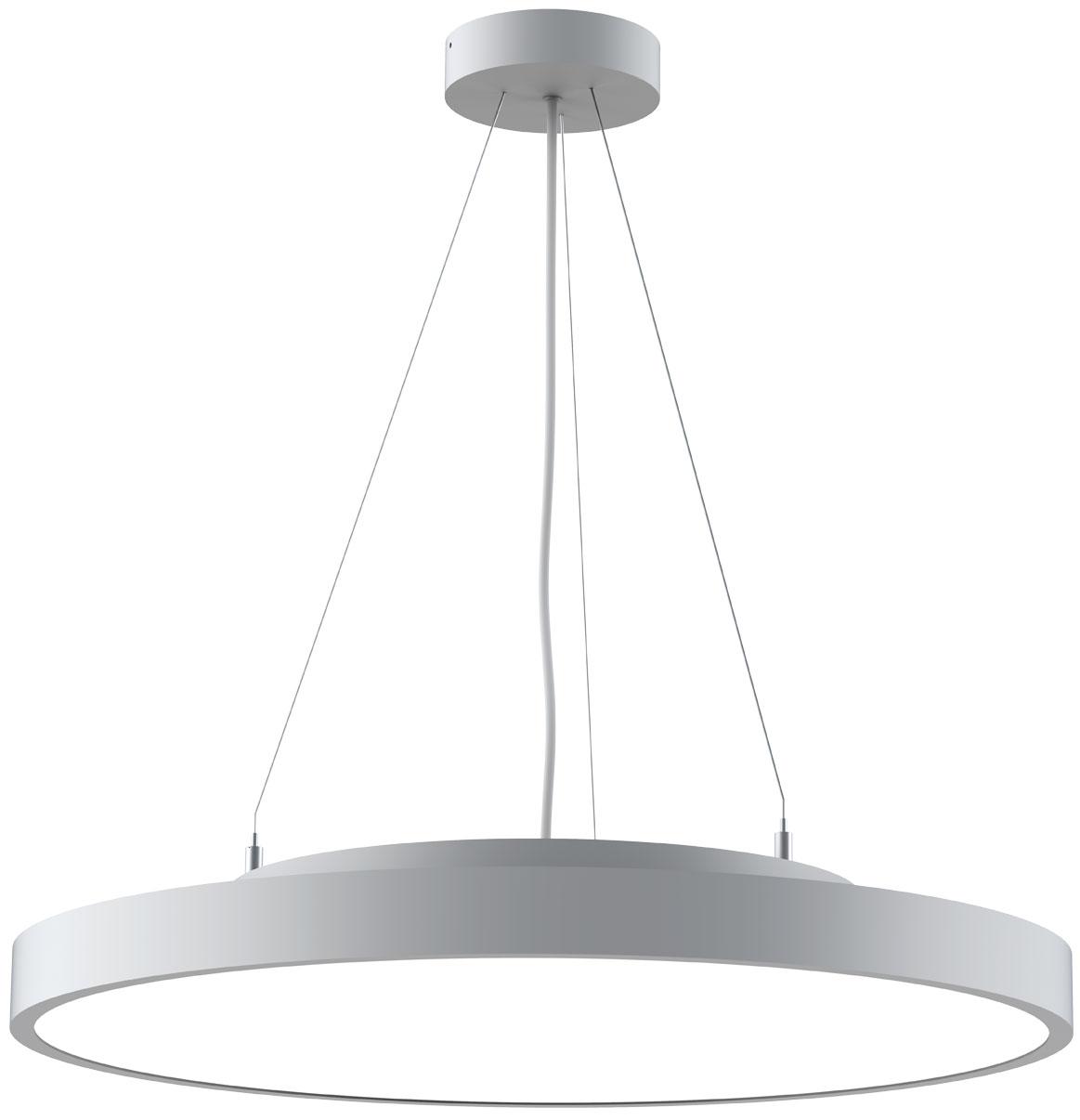 LED-Pendelleuchte PL-14 silber mit Seilabhängung