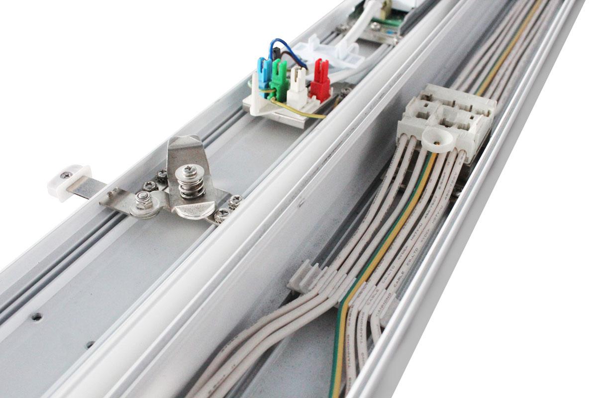 LED-Lichtband-Komplettsystem LSL-06 Durchgangsverdrahtung  der Tragschienen-Elemente