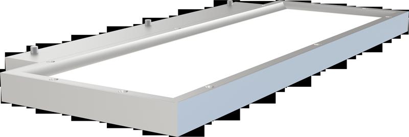 LEDAXO LED-Wandleuchte WL-10-40-E eckig - Ansicht oben
