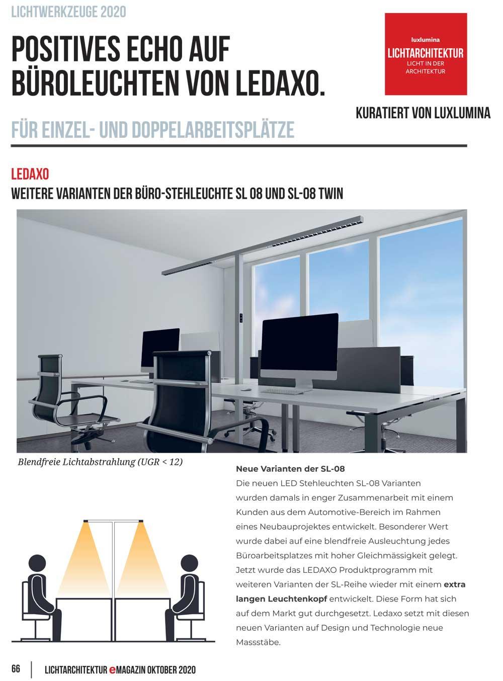 Presseveröffentlichung Luxlumina Lichtarchitektur eMagazin Oktober 2020