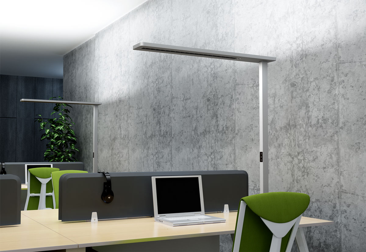 LEDAXO LED-Stehleuchte SL-11-110 für die Ausleuchtung von 1 oder 2 Arbeitsplätzen