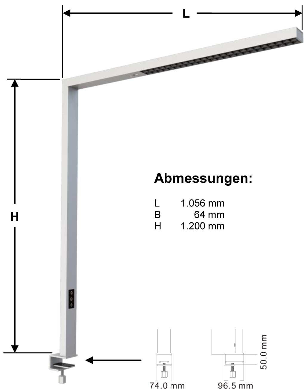 LED-Arbeitsplatzleuchte AL-06-80-FV