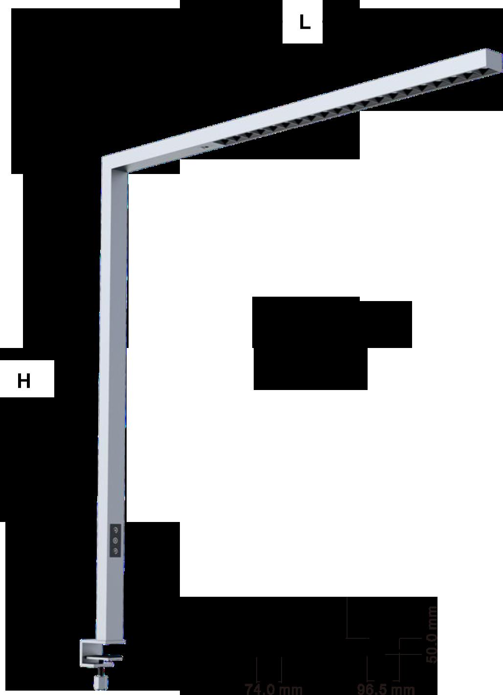 LEDAXO LED-Arbeitsplatzleuchte AL-08 Abmessungen