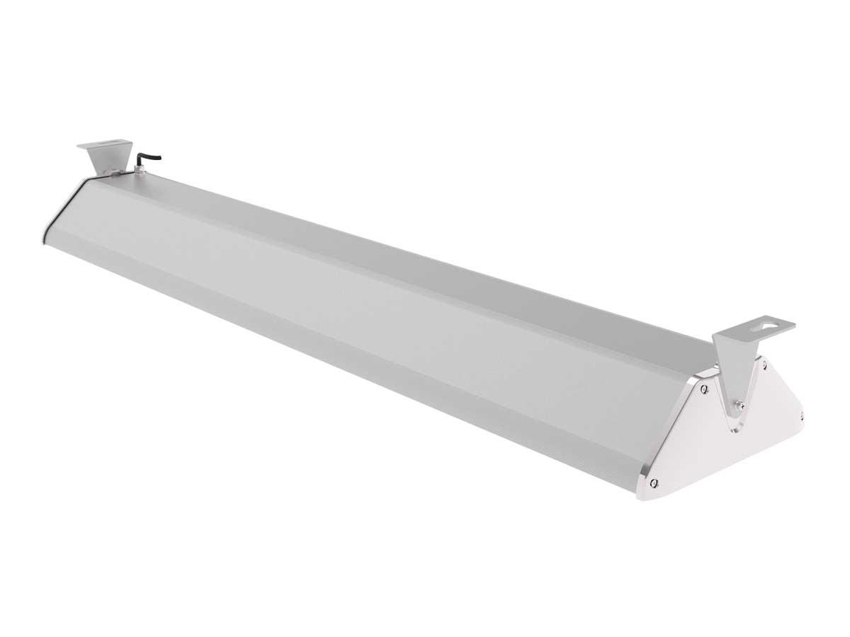 Draufsicht LEDAXO LED-Hallenleuchte HL-06-240 mit Montagebügel