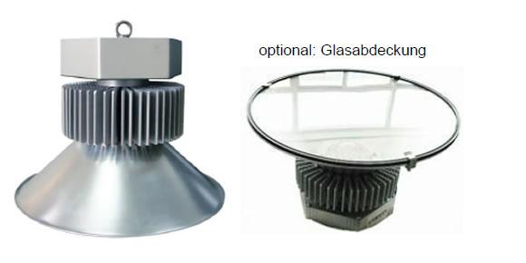 LEDAXO LED-Hallentiefstrahler HT-04 Classic Advanced mit Aluminium-Reflektor und optional mit Glasabdeckung
