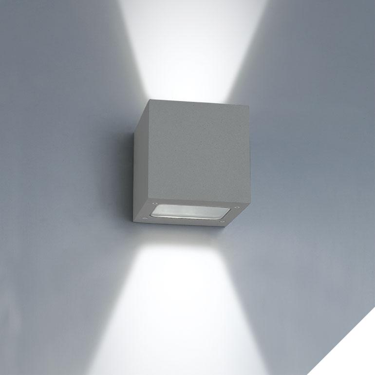 LEDAXO LED-Wandleuchte außen WLA-02-2x3
