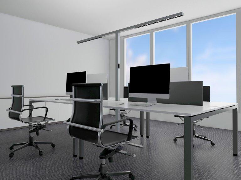 LEDAXO Büro-Stehleuchte für 2 oder 4 Arbeitsplätze  SL-08-150-TWIN-T