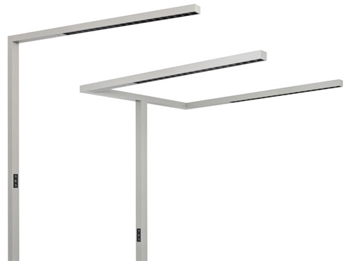 Blendfreie LED-Bürostehleuchten für Einzel- und Doppelarbeitsplätze