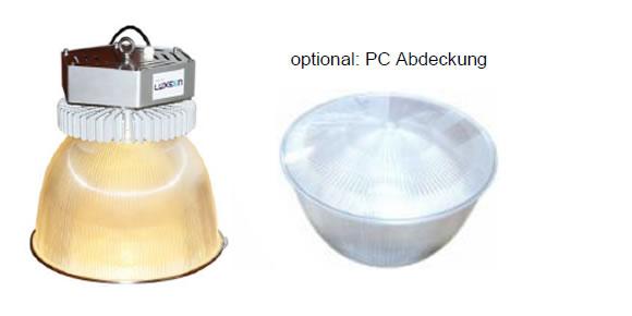 LEDAXO LED-Hallentiefstrahler HT-04 Classic Advanced mit Polycarbonat-Reflektor und optional mit Abdeckung