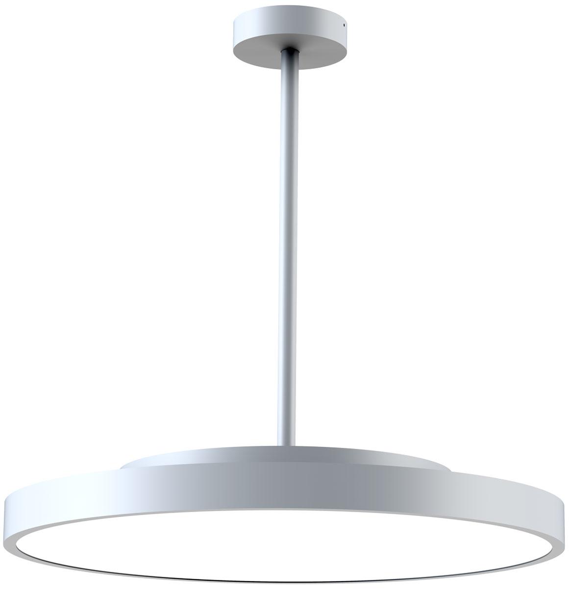 LEDAXO LED-Pendelleuchte PL-14 silber mit Pendelrohr