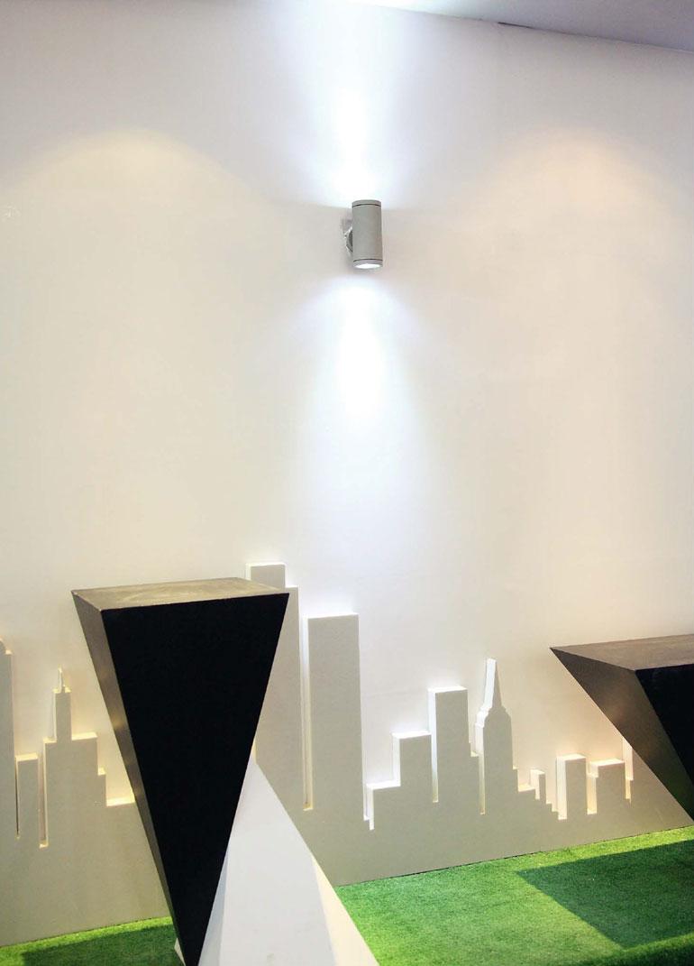 LEDAXO LED-Wandleuchte außen WLA-01 Anwendungsbeispiel