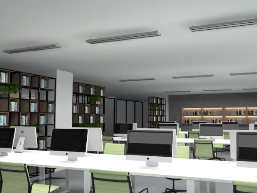 LED-Deckenleuchte DL-06 Anwendungsbeispiel