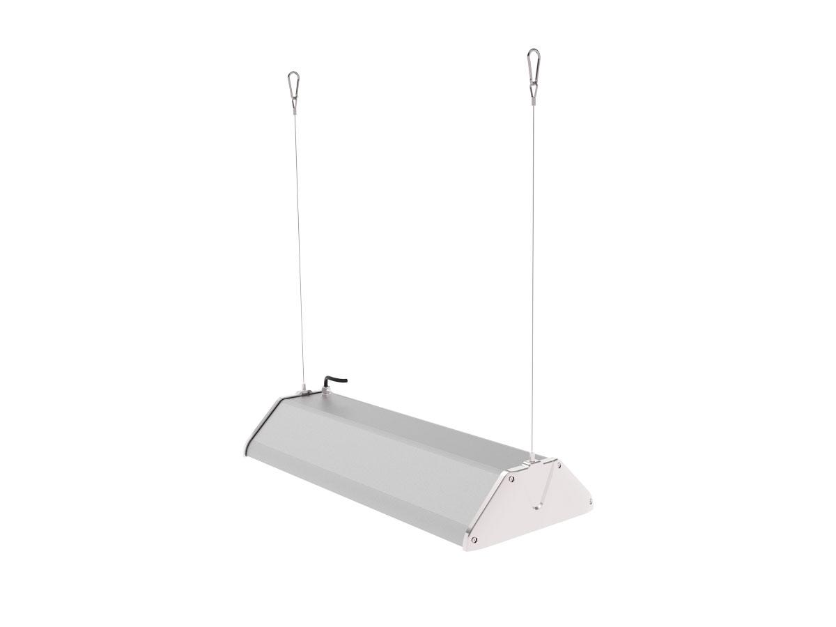 Draufsicht LEDAXO LED-Hallenleuchte HL-06-100 Pendelmontage