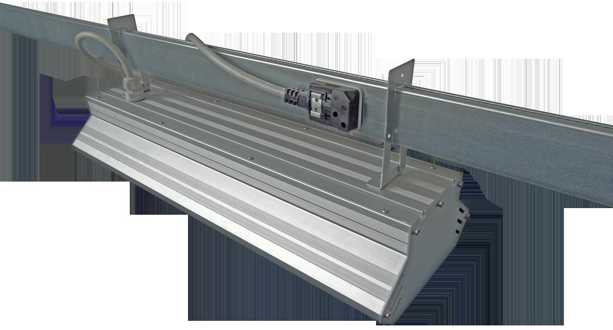 LEDAXO Trageschienensystem TS-03 für die zeit- und kostensparende Montage von LEDAXO Industrieleuchten