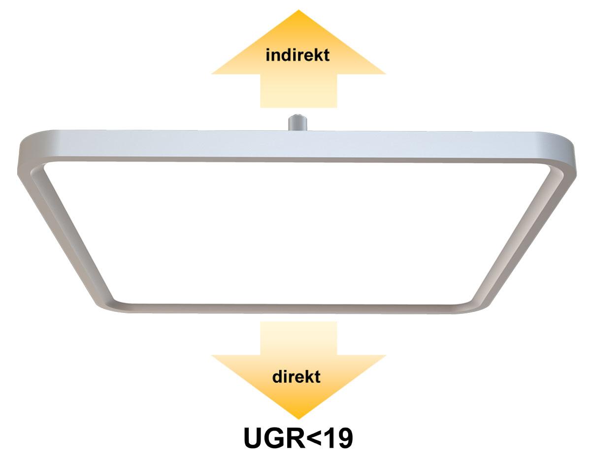 LEDAXO LED-Deckenleuchte DL-09-60-R direkt/indirekt abstrahlend