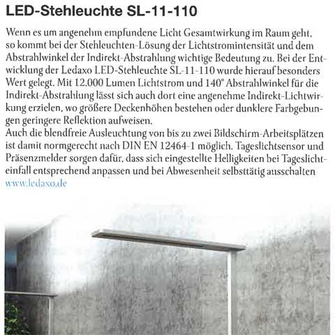 Presseveröffentlichung HIGHLIGHT - LED-Stehleuchte SL-11-110, 3/4 2021, Seite 8