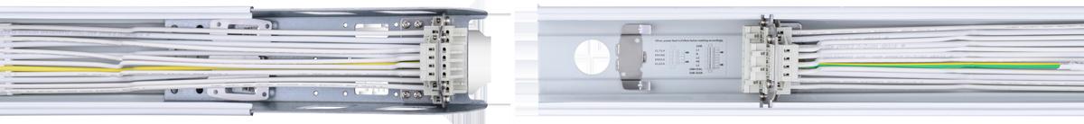 LED-Lichtband-Komplettsystem LSL-05 Ansicht Tragschienen-Verkabelung
