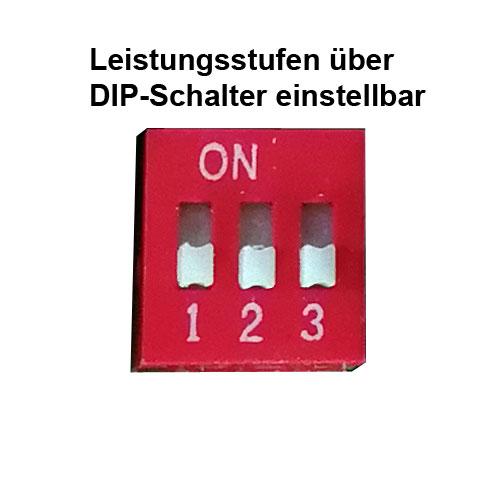 LED-Lichtband-Komplettsystem LSL-06 Leistungsstufen über DIP-Schalter stufenweise einstellbar