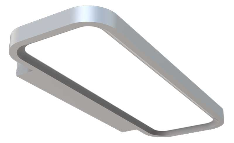LEDAXO LED-Wandleuchte WL-10-40-R Ecken  gerundet