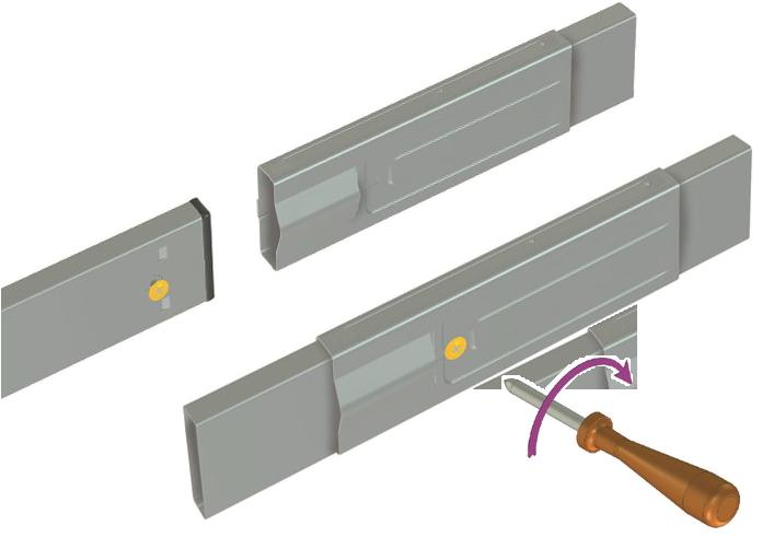 LEDAXO Trageschienensystem TS-03 geringer Montageaufwand
