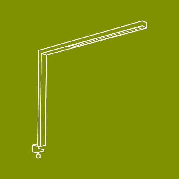 LEDAXO LED-Arbeitsplatzleuchten
