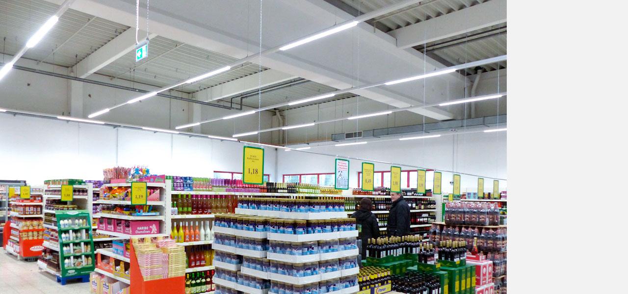 LEDAXO Produktkategorie LED-Parkraumbeleuchtung LED-Verkaufsflächenbeleuchtung
