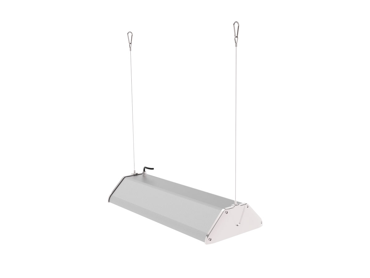 Draufsicht LEDAXO LED-Hallenleuchte HL-06-150 Pendelmontage