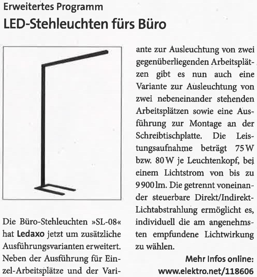 Presseveröffentlichung de das elektrohandewerk Spezial Beleuchtung 21.2020, Seite 8